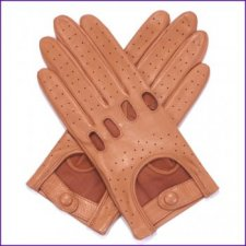 Ladies Tan Leather Driving Gloves
