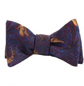 Tom Dick and Harry Self-Tie Bow-Tie - Blue Pheasant