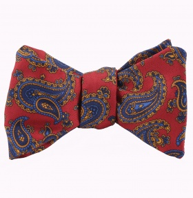 Tom Dick and Harry Self-Tie Bow-Tie -Red-Paisley