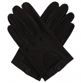 Men's Carpincho Driving Gloves - Black