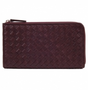 TomDIckandHarry Travel Wallet - Interlaced Leather - Brown