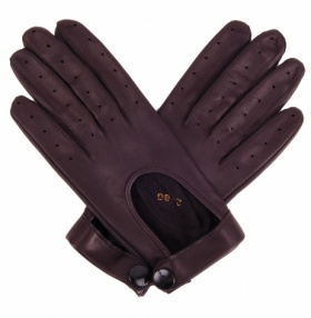 Ladies Leather Driving Gloves - Black