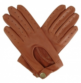Ladies Leather Driving Gloves - Cognac