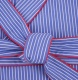 British Boxers Robe - Burford Blue Poplin Stripe