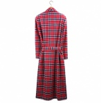 British Boxers Robe - Soft Red Tartan