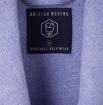 British Boxers Men's Robe - Staffordshire Blue Herringbone