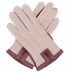 Tan Leather & Cotton Crochet Men's Driving Gloves