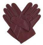 Deerskin Driving Gloves - Bark Brown