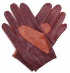 Cognac & Tan Two Tone Driving Gloves