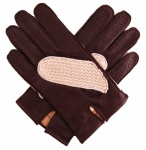 Dents Leather & Cotton Crochet Lined Men's Driving Gloves