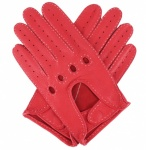 Modena Red Deerskin Driving Gloves