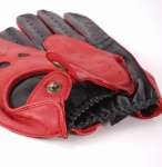 Dents Black & Berry Two Tone Driving Gloves