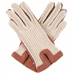 Dents Ladies Driving Gloves - String Back - Cognac