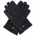 Men's Deerskin Gloves - Cashmere Lined - Navy