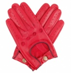 Dents Delta Driving Gloves - Red with Black Trim