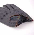Dents Delta Driving Gloves - Navy with Tan Trim