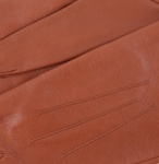 Dents Ladies Silk Lined Leather Gloves - Cognac