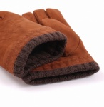 Dents Nubuck Leather Men's Gloves -Cognac