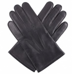 Dents Keston Men's Leather Gloves - Knitted Lining - Black