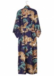 Men's Cotton Yukata Kimono - Dragon & Eagle - Navy