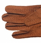 Men's Carpincho Leather Driving Gloves - Cognac