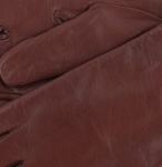 Womens Chestnut Brown Leather Gloves - Cashmere Lining