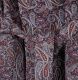 Men's Lightweight Cotton Dressing Gown - Navy Paisley