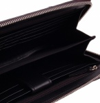 Men's Portfolio Travel Wallet - Black Calf Leather