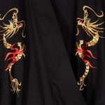 Men's Embroidered Flare Dragon Black Kimono