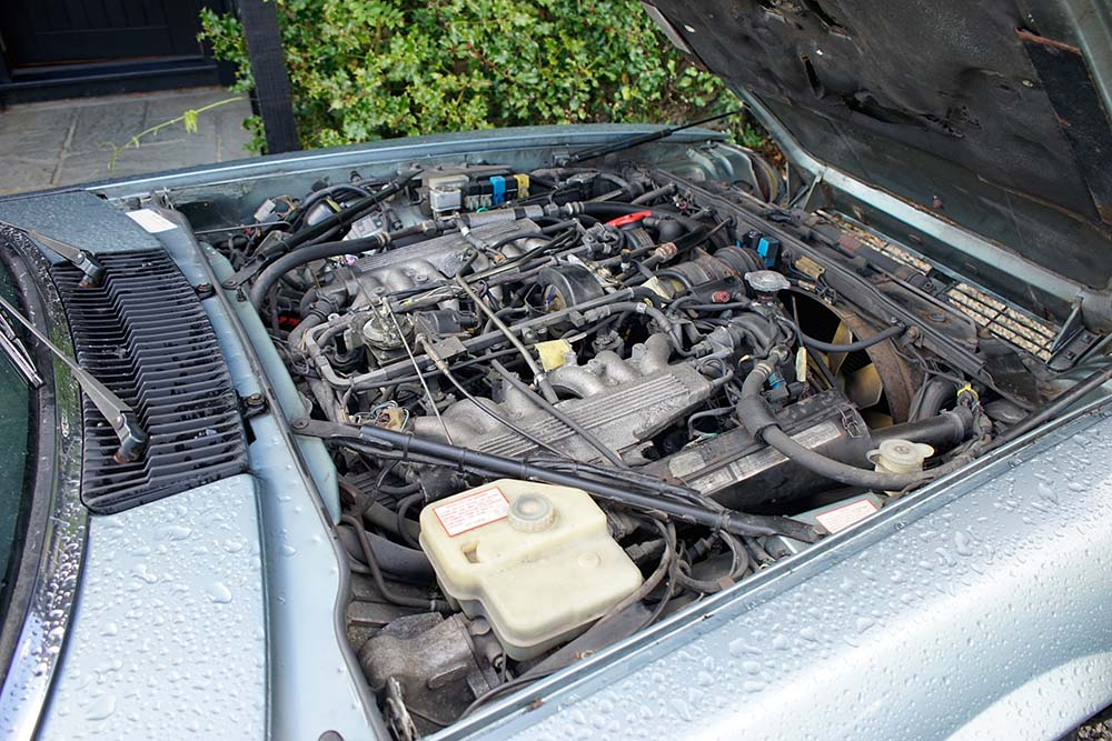 The engine bay untouched for 10 years