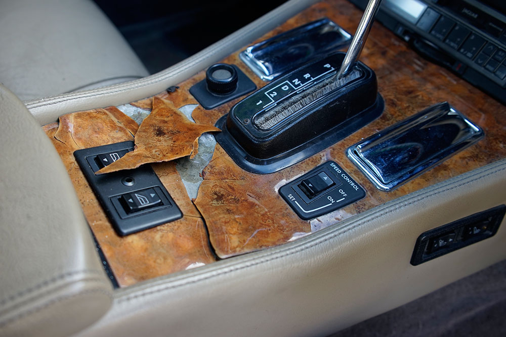 Broken Wood Veneer on Centre Console