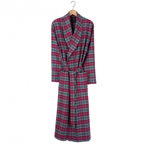 British Boxers Men's Robe - Brunello Flannel
