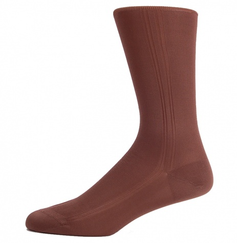 Nut Brown Silk Socks