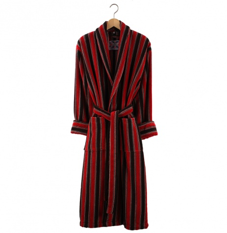 Bown Dressing Gown -Ely Velours Stripe