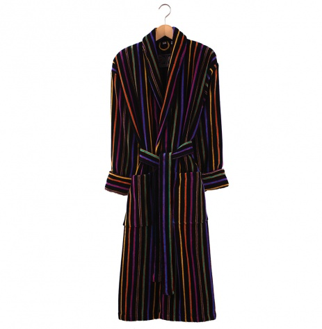Bown Dressing Gown -Mozart Velours Stripe