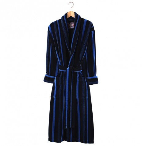 Bown Dressing Gown -Salcombe Velours Stripe