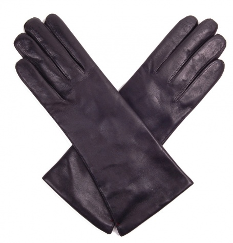 Dents Helene Ladies Black Leather Gloves - Cashmere Lined