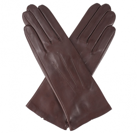 Dents Ladies Silk Lined Leather Gloves - Mocca