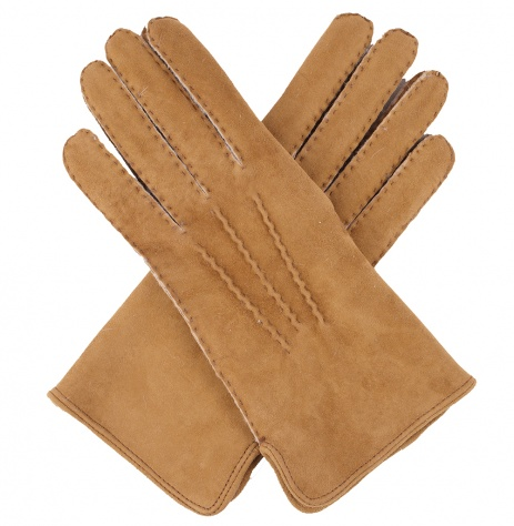 Dents Ladies Handsewn Lambskin Glove - Camel