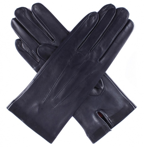 Dents Ladies Unlined Short Leather Gloves - Navy