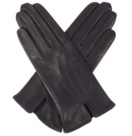Dents Ladies Unlined Leather Gloves - Black Imipec