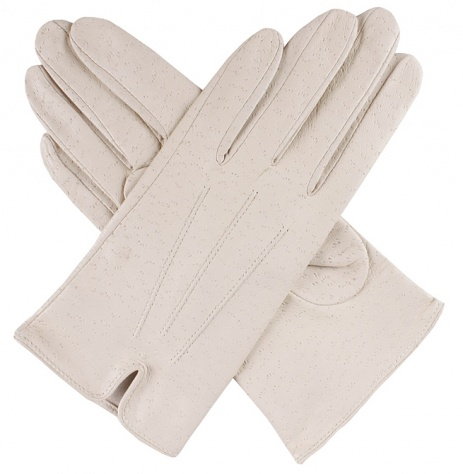 Dents Ladies Unlined Leather Gloves - Parchment Imipec