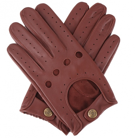 Dents Delta Men's Driving Glove - English Tan