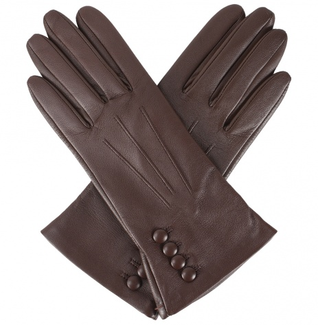 Dents Natalie Touchscreen Leather Gloves - Mocca