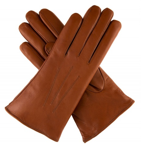 Dents Ripley - Ladies Fur-lined Leather Gloves - Cognac