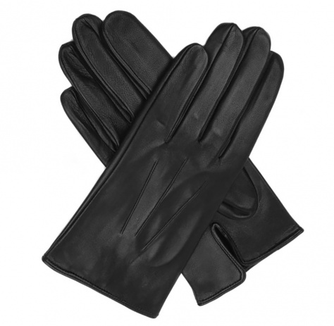 Dents Milton Men's Unlined Black Leather Gloves