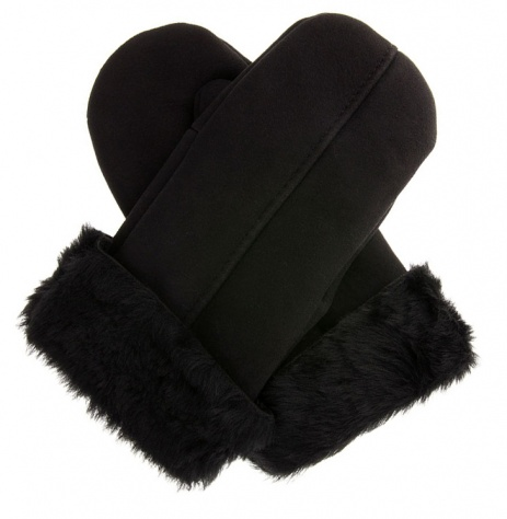 Dents Men's Sheepskin Mittens - Black