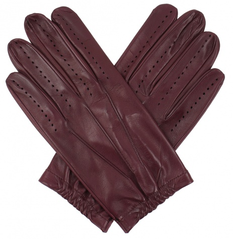 Tom Dick and Harry Men's Full Driving Gloves - Burgundy