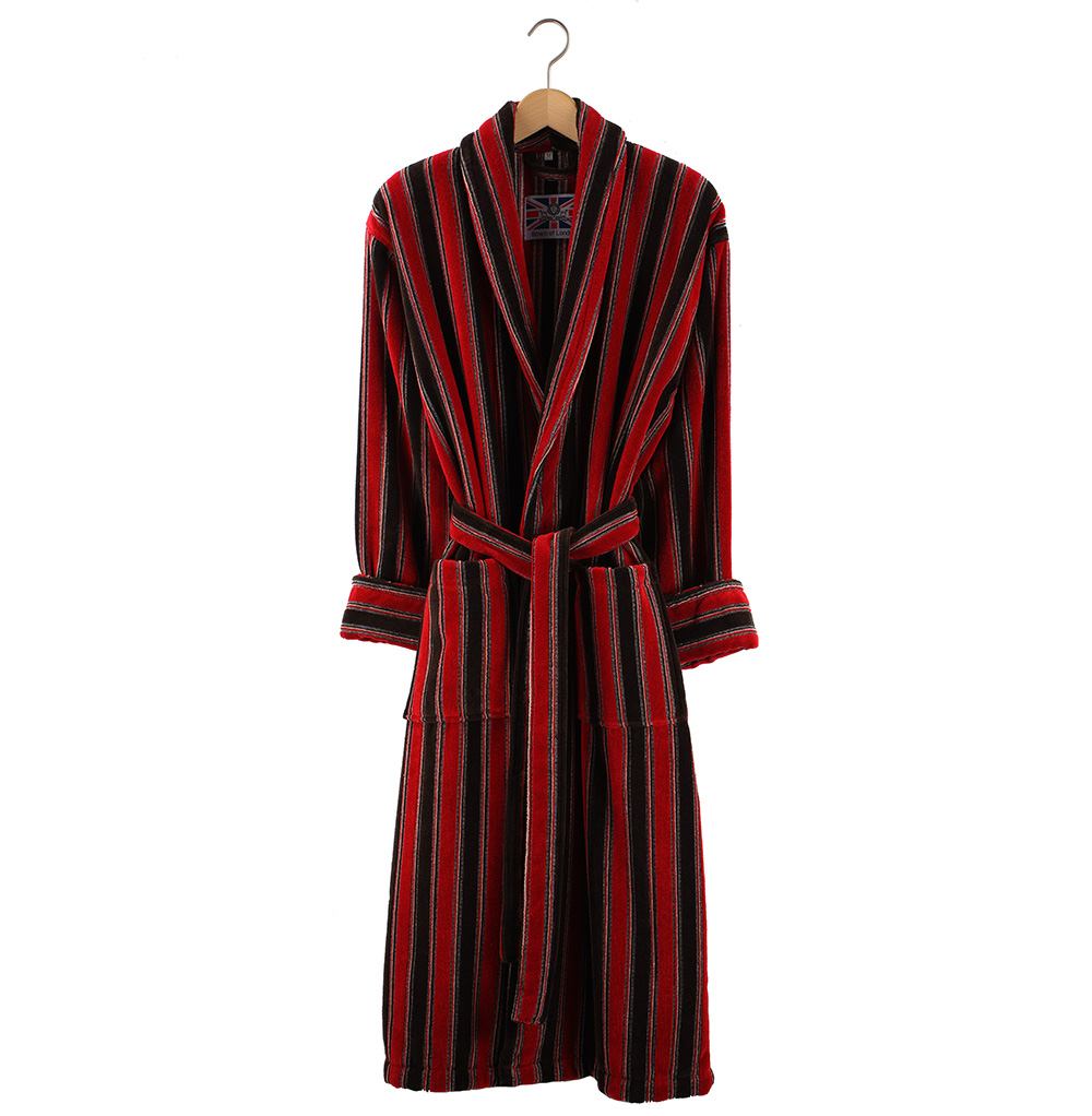 Men S Dressing Gowns Uk: Bown Ely Men's Dressing Gown - Red