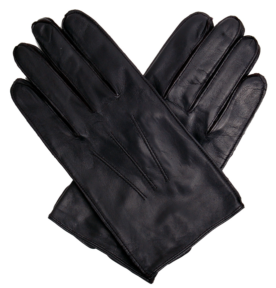 8322f2a764e87 Tom Dick and Harry | Men's Classic 3-point Black Leather Gloves